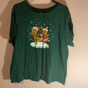 Gingerbread Holiday shirt plus size 3x